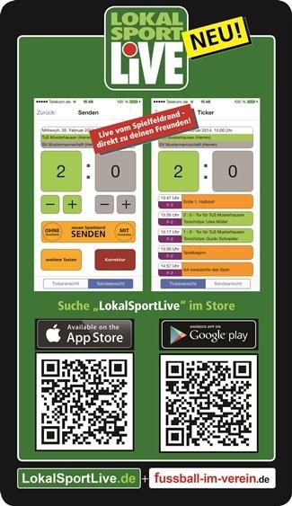 LiveTicker von LokalSportLive.de mit deinem Team