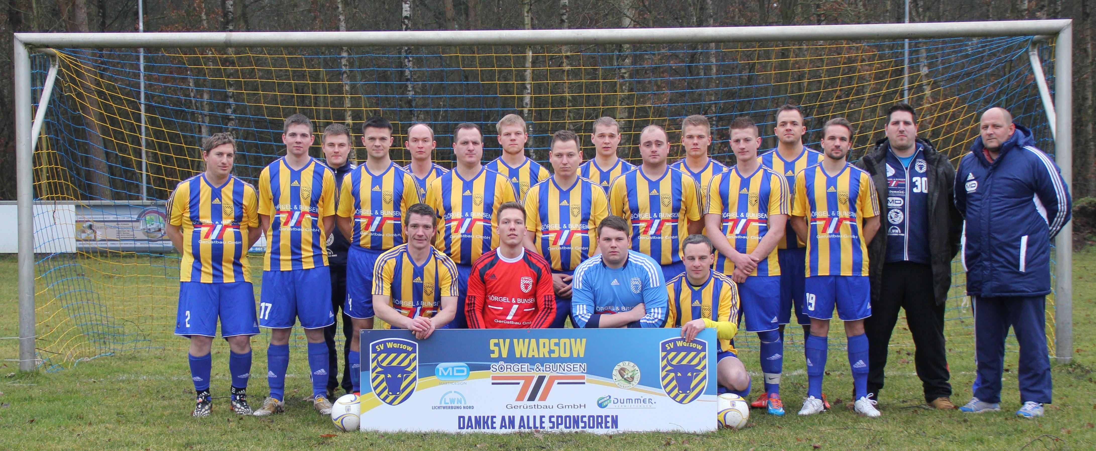 Mannschaftsfoto/Teamfoto von SV Warsow