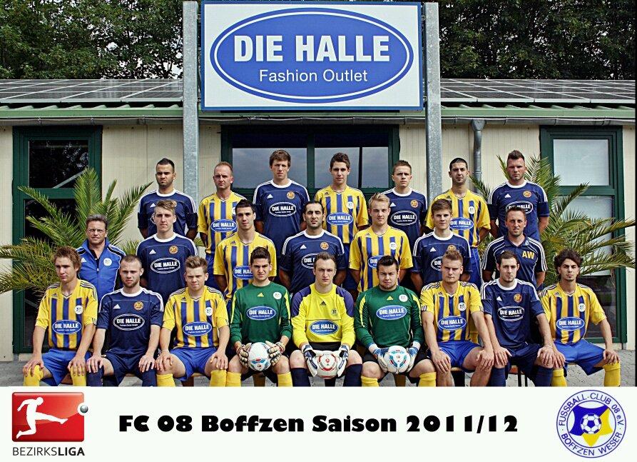 Teamfoto, Mannschaftsfoto FC 08 Boffzen