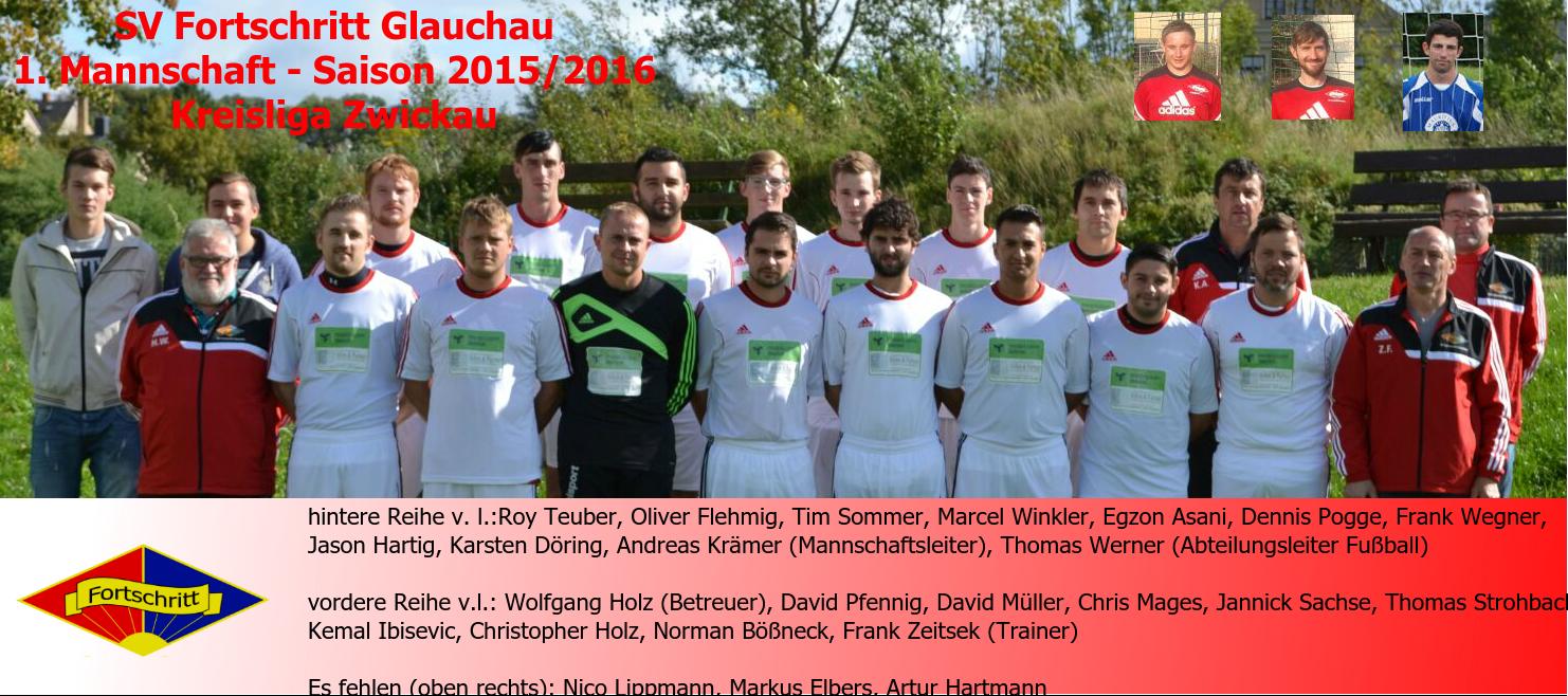 Mannschaftsfoto/Teamfoto von SV Fortschritt Glauchau