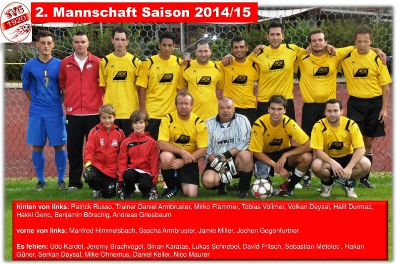 Teamfoto, Mannschaftsfoto SV Gengenbach 2