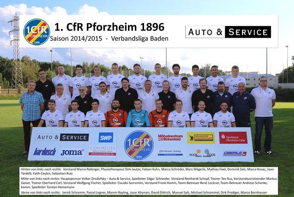Mannschaftsfoto/Teamfoto von 1.CfR Pforzheim