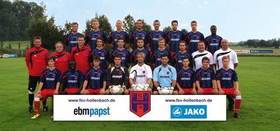 Teamfoto, Mannschaftsfoto FSV Hollenbach