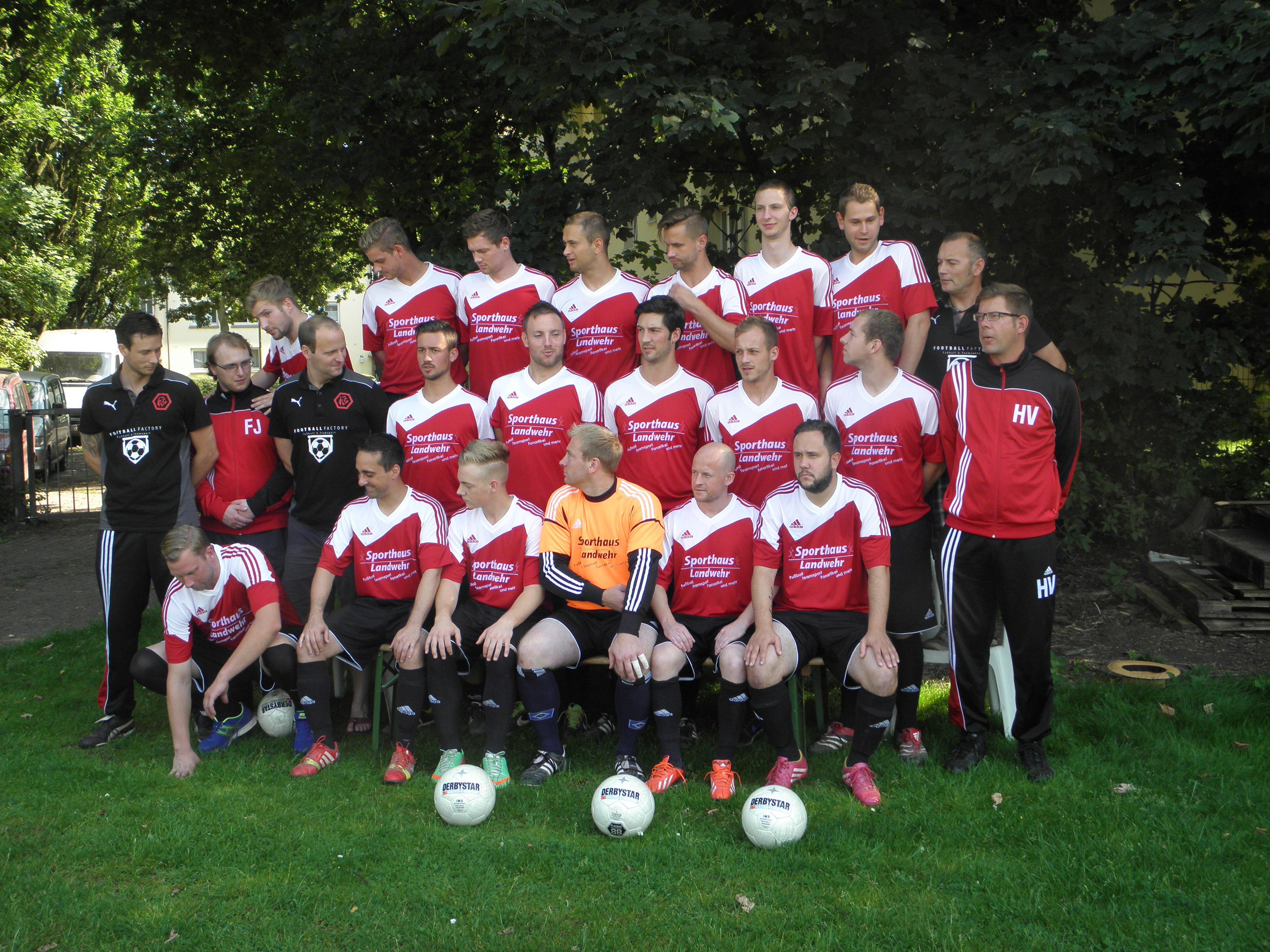 Mannschaftsfoto/Teamfoto von Farmsen